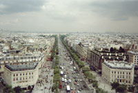 Paris from the Arc De Triumph